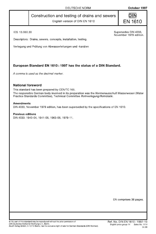 DIN EN 1610