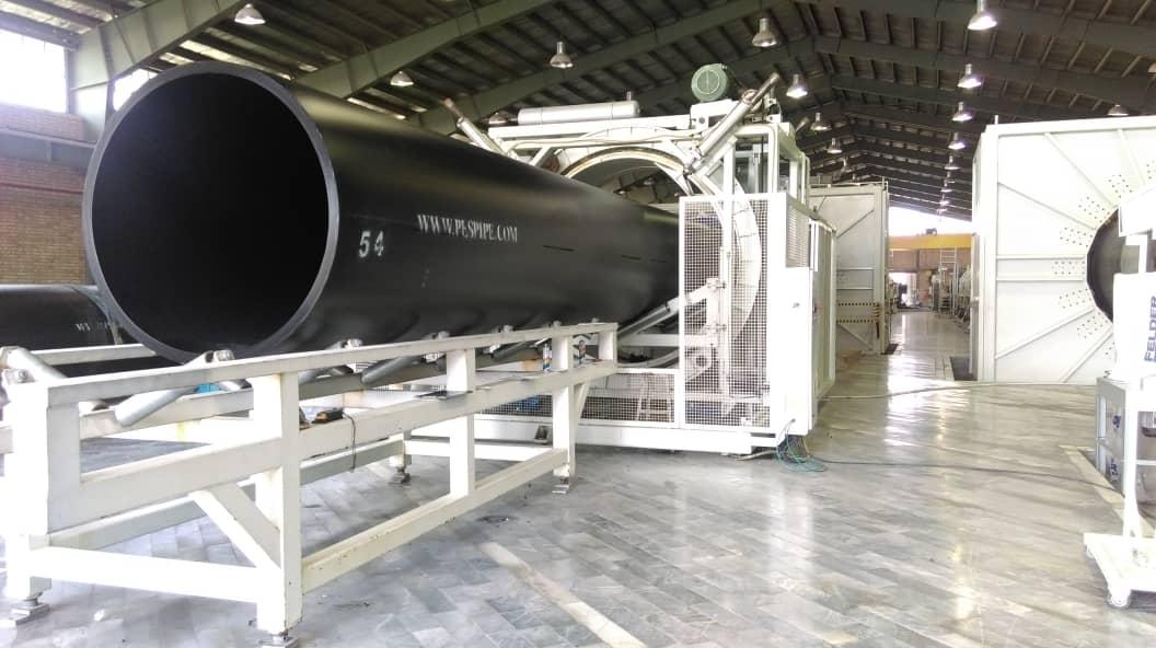 تولید لوله پلی اتیلن 1600mm-SDR26 پروژه آبگیر